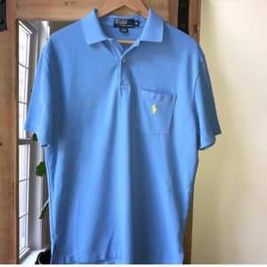 Polo by Ralph Lauren Blue Pocket Polo Shirt